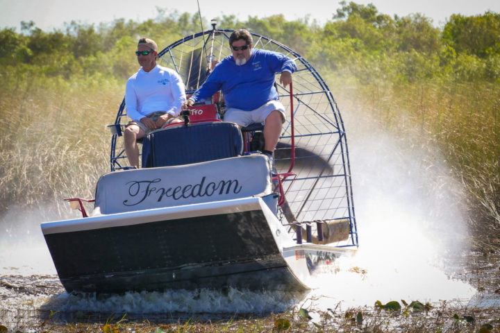 Uncharted Waters with Peter Miller in the Florida Everglades on an airboat with Capt. Ozzie Gonzalez.